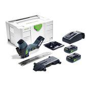 Festool ISC 240 Li 3,1 EB-Compact 18 V Scie sans fil pour matériaux isolants en Coffret Systainer + 2x Batteries 3,1 Ah + Chargeur TCL 6 ( 575607 )