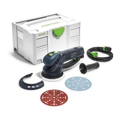 Festool RO 150 FEQ-Plus ROTEX Getriebe Exzenterschleifer 720W 5mm Hub ( 571805 ) im Systainer + 50x Schleifscheiben P150 – Bild 2