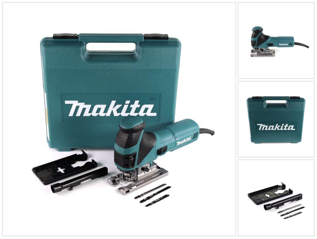 makita 4351 fct pendelhub stichsäge 720w im koffer mit sägeblatt-set