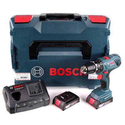Bosch GSB 18 V-21 Professional 18 V Akku Schlagbohrschrauber in L-Boxx + 2 x 2,0 Ah Akkus + Ladegerät GAX 18V-30 ( 06019H1171 ) – Bild 2