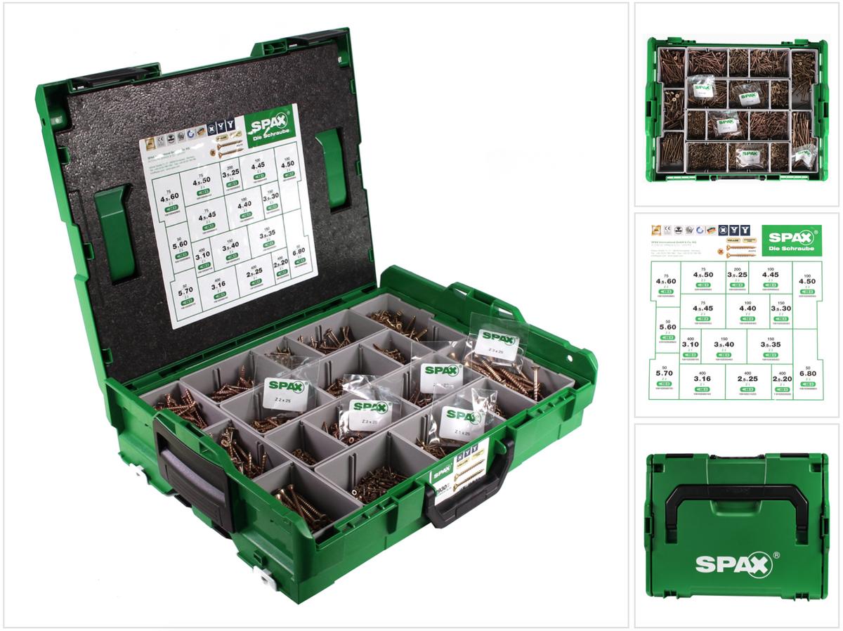 spax montagekoffer sortimo l boxx f r schrauben 515tlg zubeh rset tstar plus ebay. Black Bedroom Furniture Sets. Home Design Ideas
