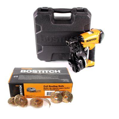 """Bostitch RN46K-2-E Druckluft Nagler im Koffer Coilnagler für Dachpappnägel CR 19 - 45 mm + 7200 Dachpappnagel CR19GAL 3.05-19 GAL8 7.2M 3/4"""" / 19 mm glatt – Bild 2"""