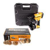 Bostitch RN46K-2-E Druckluft Dachpappnagler ST 19-45mm 4,8-7,0bar + 7200x Nägel 19mm + Koffer