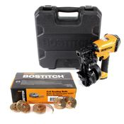 Bostitch RN46K-1-E CT Dachpappnagler Druckluftnagler Coil nailer 45mm + 7200 Dachpappnagel + Koffer