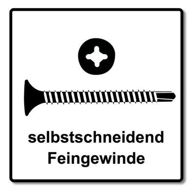 Technofast HBTF3535TD 5000 x Schnellbauschrauben Magazinschrauben 3,5 x 35 PH2 Feingewinde Teks-Bohrspitze – Bild 4