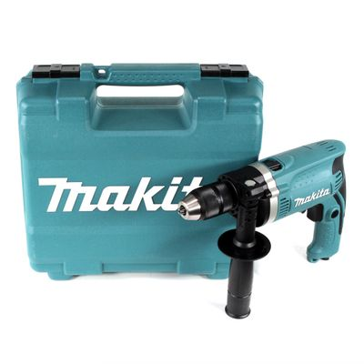 Makita HP 1631 KX3 Schlagbohrmaschine 710 W im Transportkoffer inkl. 74 tlg. Zubehörset – Bild 2
