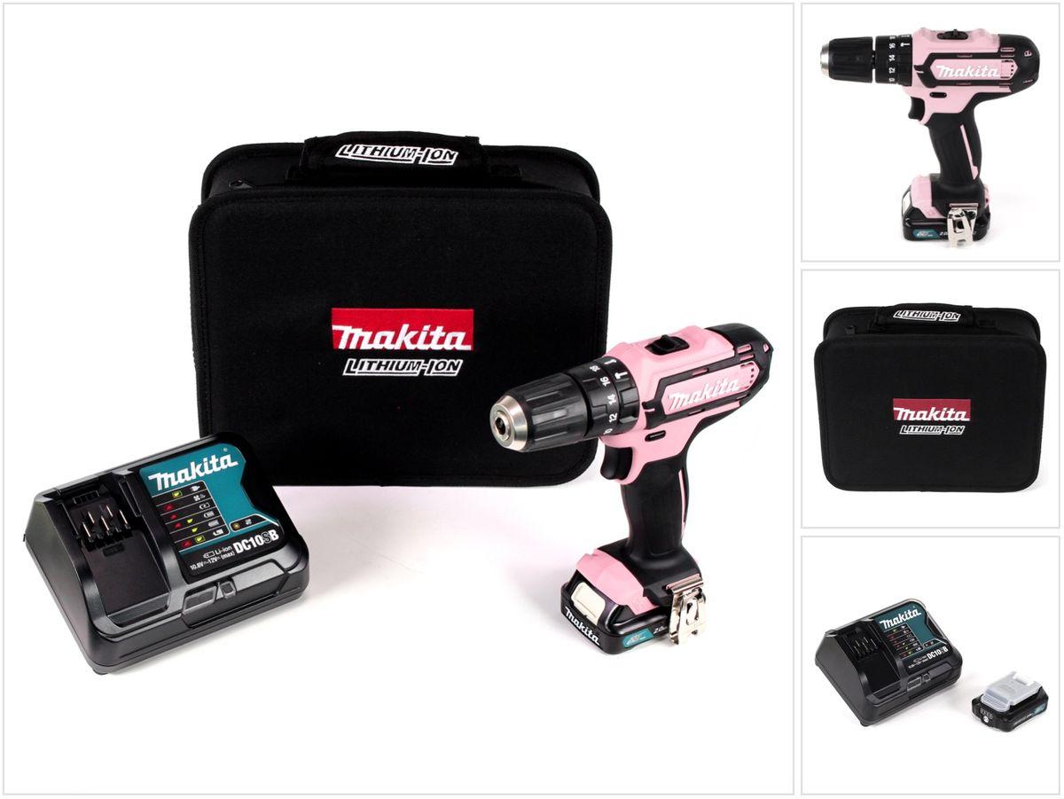 Makita Entfernungsmesser Set : Makita hp dsap akku schlagbohrschrauber v pink nm mit