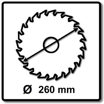 Makita MAKBLADE Kreissägeblatt für Holz 260 x 30 x 2,3 mm 60 Zähne ( B-32801 ) – Bild 3