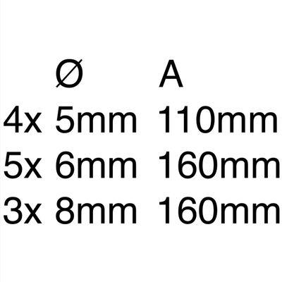 Makita SDS-VPlus Bohrerset 12 tlg. SDS-Plus ( B-49111 ) – Bild 4