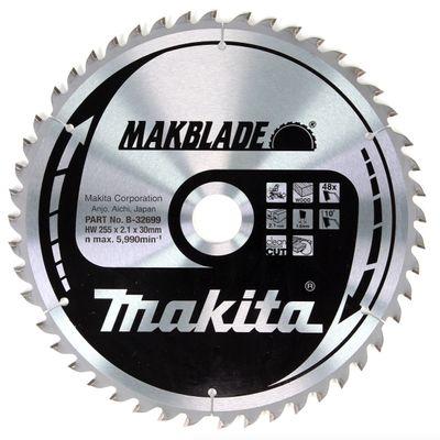 Makita MAKBLADE Kreissägeblatt für Holz 255 x 30 x 2,1 mm 48 Zähne ( B-32699 ) – Bild 2