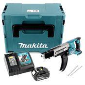 Makita DFR 750 RM1J Akku Magazinschrauber 18V 45-75mm + 1x Akku 4,0Ah + Ladegerät + Makpac