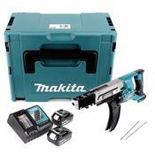 Makita DFR 750 RGJ Akku Magazinschrauber 18V 45-75mm + 2x Akku 6,0Ah + Ladegerät + Makpac