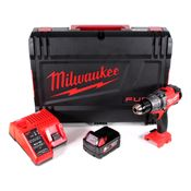 Milwaukee M18 FPD-501C Akku Schlagbohrschrauber 135 Nm im HD System Koffer mit 1x M18 B5 5,0 Ah Akku und M12-18C Ladegerät