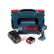 """Bosch GDR 18 V-160 Visseuse à chocs sans fil avec douille haxagonale 1/4"""" + Coffret de transport L-Boxx + 1x Batterie Bosch 3,0 Ah + Chargeur Bosch GAL 1880 CV"""