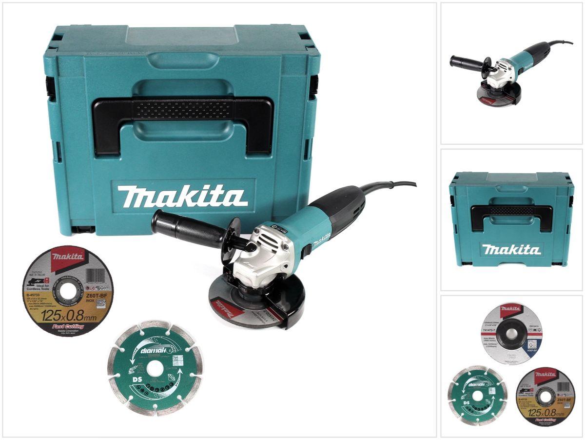 5x Trennscheibe Makita GA5030RX1 Winkelschleifer 720Watt 125mm Schruppscheibe