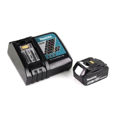 Makita DMR 202 RT1 Baustellen Lautsprecher 18V - für Akku- und Netzbetrieb, mit Bluetooth-Funktion, AUX-Anschluss, USB-Port, LCD Display + 1x Akku 5,0 Ah, Ladegerät 18V – Bild 4