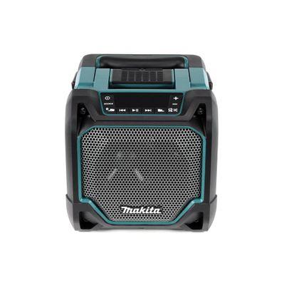 Makita DMR 202 RF Baustellen Lautsprecher 18V - für Akku- und Netzbetrieb, mit Bluetooth-Funktion, AUX-Anschluss, USB-Port, LCD Display + 2x 3,0 Ah Akku + Ladegerät – Bild 3