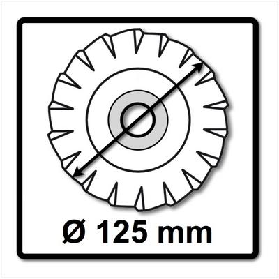 10x Bosch SIA 2824 Stingray Fächerscheibe 125 mm P120 für Stahl und Inox – Bild 3