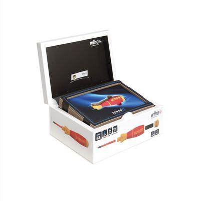 Wiha speedE® Kit de Tournevis électrique - Set 1 dans Coffret L-Box 10 pièces avec 2x Batteries 1,5Ah + Chargeur + Embouts (41911) – Bild 3