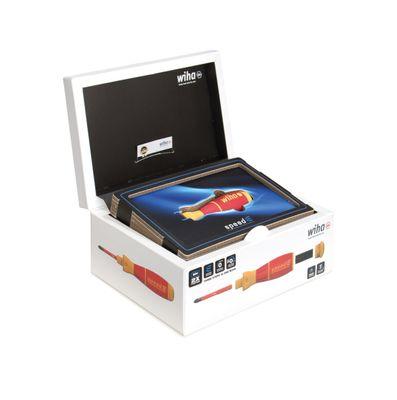 Wiha speedE® elektronischer Schraubendreher - Set 3 in L-Box - 25-teilig mit 2x 1,5 Ah Akku und Ladegerät +  Bits und TorqueAdapter ( 41913 ) – Bild 3