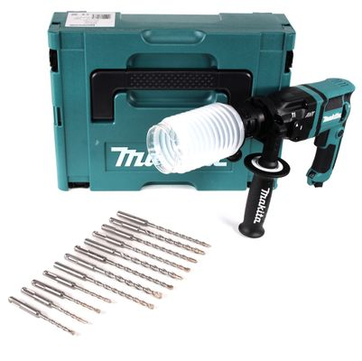 Makita HR 1841 FJ Perforateur 470 W SDS-Plus + Coffret Makpac + Protection contre la poussière + Jeu de 12 forets perforateurs SDS-VPlus – Bild 2