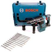 Bosch GBH 18V-26 F Akku Bohrhammer 18V 2,6J SDS-Plus in L-Boxx mit Makita SDS-VPlus Bohrerset 12 tlg. SDS-Plus