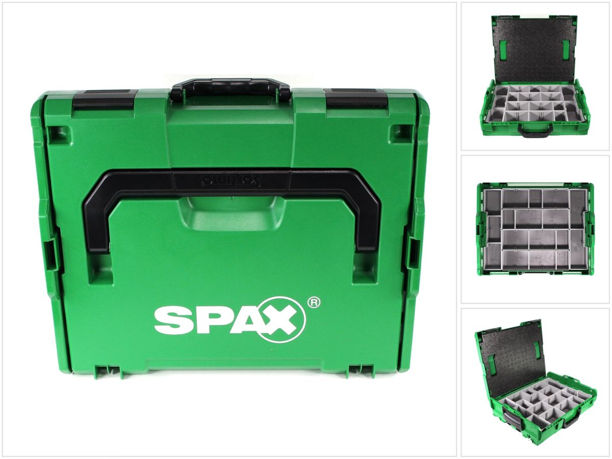 spax montagekoffer sortimo l-boxx aufbewahrungskoffer für schrauben