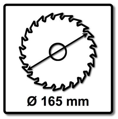 Makita EFFICUT Kreissägeblatt für Holz 165 x 20 x 1,45 mm 56 Zähne ( B-57336 ) – Bild 3