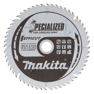 Makita EFFICUT Lame de scie circulaire pour bois 165 x 20 x 1,45 mm à 56 dents ( B-57336 ) – Bild 2