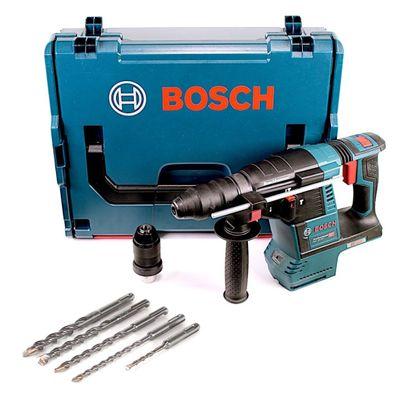 Bosch GBH 18V-26 F Akku Bohrhammer 18V 2,6J SDS-Plus in L-Boxx mit 5 SDS-VPlus Hammerbohrer – Bild 2