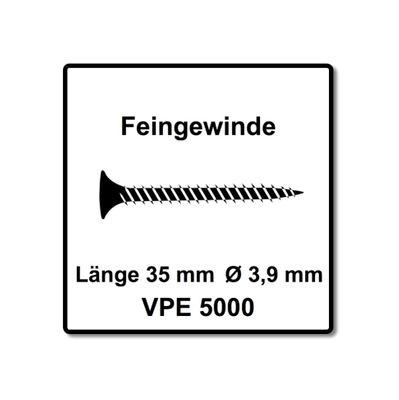 SENCO DS 5550 AC DuraSpin Magazin Schrauber 600 W Schnell Trocken Bau Schrauber und 5000x Magazinschrauben Feingewinde 3,9x35 ( 7W2001N ) – Bild 4