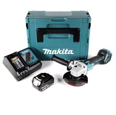 Makita DGA 511 RF1J Akku Winkelschleifer 18V 125mm + 1x Akku 3,0Ah + Schnellladegerät im Makpac – Bild 2