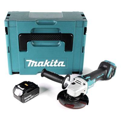 Makita DGA 511 M1J Akku Winkelschleifer 18V 125mm + 1x Akku 4,0Ah im Makpac - ohne Ladegerät – Bild 2