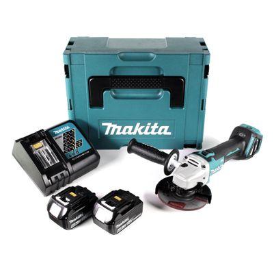 Makita DGA 511 RMJ Akku Winkelschleifer 18V 125mm + 2x Akkus 4,0Ah  + Schnellladegerät im Makpac – Bild 2
