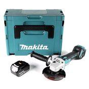 Makita DGA 511 T1J Akku Winkelschleifer 18V 125mm + 1x Akku 5,0Ah im Makpac - ohne Ladegerät