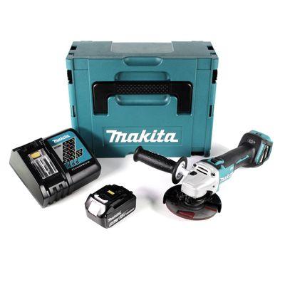 Makita DGA 511 RT1J Akku Winkelschleifer 18V 125mm + 1x Akku 5,0Ah + Schnellladegerät im Makpac – Bild 2