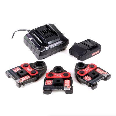Rothenberger ROMAX Compact TT Set TH EU Akku Kompaktpressmaschine mit PB-Set TH16-20-26 elektrohydraulisch im Transportkoffer + 1 x 2,0 Ah Akku + Ladegerät + 3 x Pressbacken ( 1000002120 ) – Bild 5