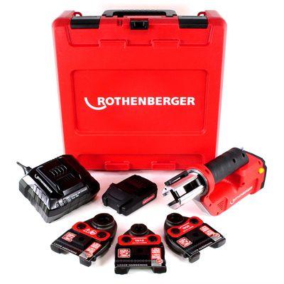 Rothenberger ROMAX Compact TT Set TH EU Machine à sertir avec électro-hydraulique PB-Set TH16-20-26 + Coffret de transport + 1x Batterie 2,0 Ah + Chargeur + 3x Mâchoires de presse ( 1000002120 ) – Bild 2