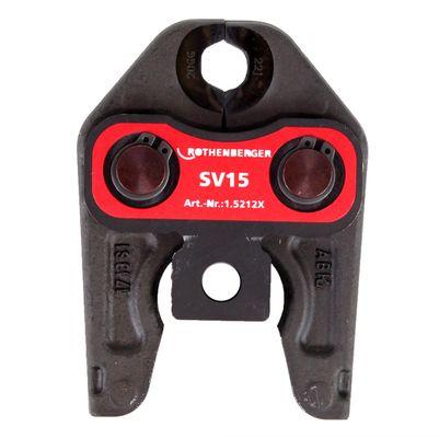 Rothenberger Pressbacke Presszange Standard SV15 ( 015212X ) für ROMAX 4000 / Akku Press ACC etc – Bild 3