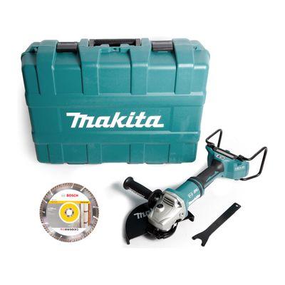 Makita DGA 901 ZKU2 36 V Akku Winkelschleifer 230 mm in Werkzeugkoffer + 5 x Bosch Universal Diamant Trennscheibe DIA-TS - ohne Akku, ohne Ladegerät – Bild 2