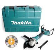 Makita DGA 901 ZKU2 Akku Winkelschleifer 36V ( 2x18V ) 230mm im Koffer + 5x Diamant Trennscheibe - ohne Akku und Ladegerät