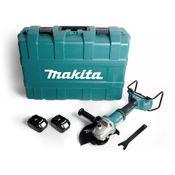 Makita DGA 901 T2KU2 Akku Winkelschleifer 36V ( 2x18V ) 230mm Brushless + 2x Akku 5,0Ah + Ezynut + Koffer - ohne Ladegerät