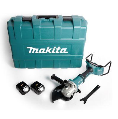 Makita DGA 901 G2KU2 Akku Winkelschleifer 36V ( 2x18V ) 230mm Brushless + 2x Akku 6,0Ah + Ezynut + Koffer - ohne Ladegerät – Bild 2