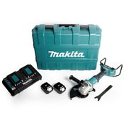 Makita DGA 901 PG2KU2 Akku Winkelschleifer 36V ( 2x18V ) 230mm im Koffer + 2x 6,0Ah Akku + Doppelladegerät