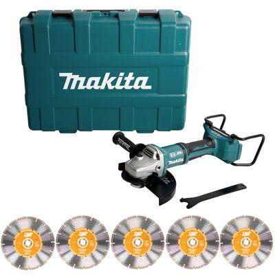 Makita DGA 900 ZKX2 36V/2x18V Li-Ion Akku Winkelschleifer Brushless 230 mm im Transportkoffer mit Ezynut + 5 x Spit Trennscheiben  - ohne Akku, ohne Ladegerät  – Bild 2