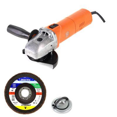 Fein WSG 17-125 PS 1700 W Winkelschleifer 125 mm im Karton mit Schnellspannmutter Fixtec + 10 x Bosch Fächerscheiben – Bild 2