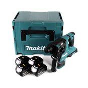 Makita DHR 280 M4J 2 x 18 V 36 V Li-Ion Akku Bohrhammer Brushless 28 mm für SDS-PLUS im Makpac + 4 x 4,0 Ah Akku - ohne Ladegerät