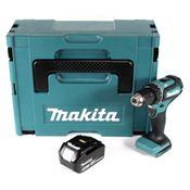 Makita DDF 485 T1J Akku Bohrschrauber 18V 50Nm im Makpac + 1x 5,0 Ah Akku - ohne Ladegerät