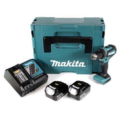 Makita DDF 485 RTJ 18 V Li-Ion Perceuse visseuse sans fil Brushless 13 mm + Coffret MakPac + 2 x Batteries 5,0 Ah + Chargeur – Bild 2