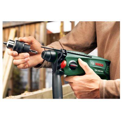 Bosch Heimwerker PBH 2500 SRE Bohrhammer im Koffer mit SDS-Plus Bohrer Set und Wechselbohrfutter ( 0 603 344 404 ) – Bild 4